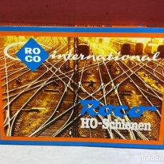 Trenes Escala: VÍAS ROCO. HO. SET AMPLIACION . NUEVOS EN SU CAJA ORIGINAL. Lote 252868015