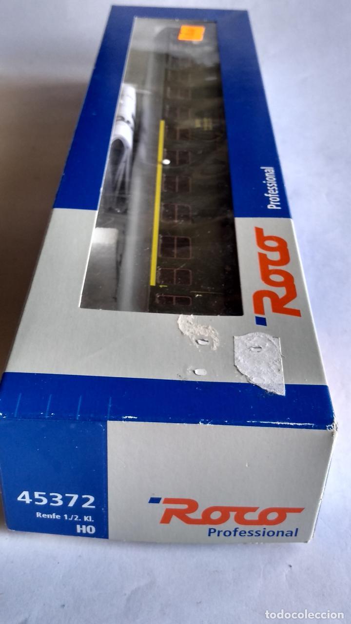 Trenes Escala: ROCO H0 REF 45372, VAGÓN COCHE DE PASAJEROS RENFE 1ª-2ª. COMO NUEVO, EN CAJA - Foto 10 - 253919170