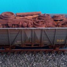 Treni in Scala: VAGON RENFE H0 CON CARGA DE CHATARRA. Lote 266365783