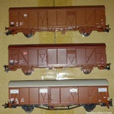 Trenes Escala: 3 VAGONES ROCO. Lote 267638064