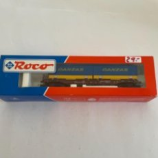 Trenes Escala: ROCO. HO. REF 46579 RENFE VAGON PORTACONTENEDORES. Lote 268262899