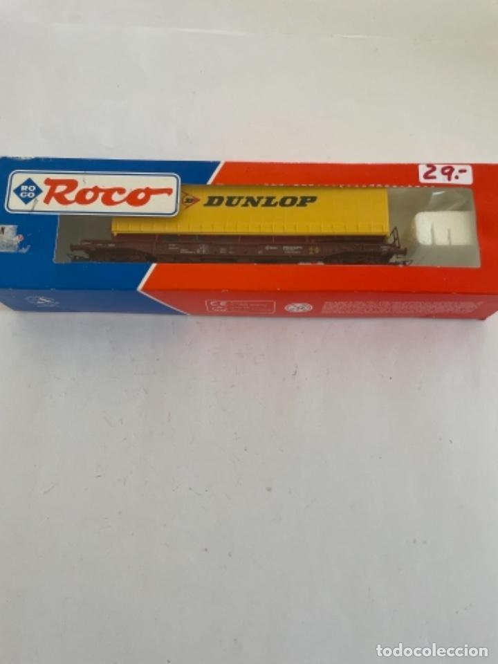 ROCO. HO. RENFE VAGON PORTACONTENEDORES (Juguetes - Trenes a Escala H0 - Roco H0)