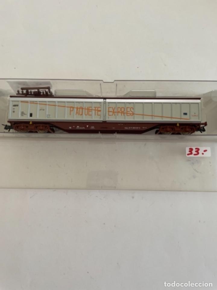 Trenes Escala: ROCO. HO. REF 67564 RENFE VAGON PAQUETE EXPRES PUERTAS CORREDERAS - Foto 2 - 268266519