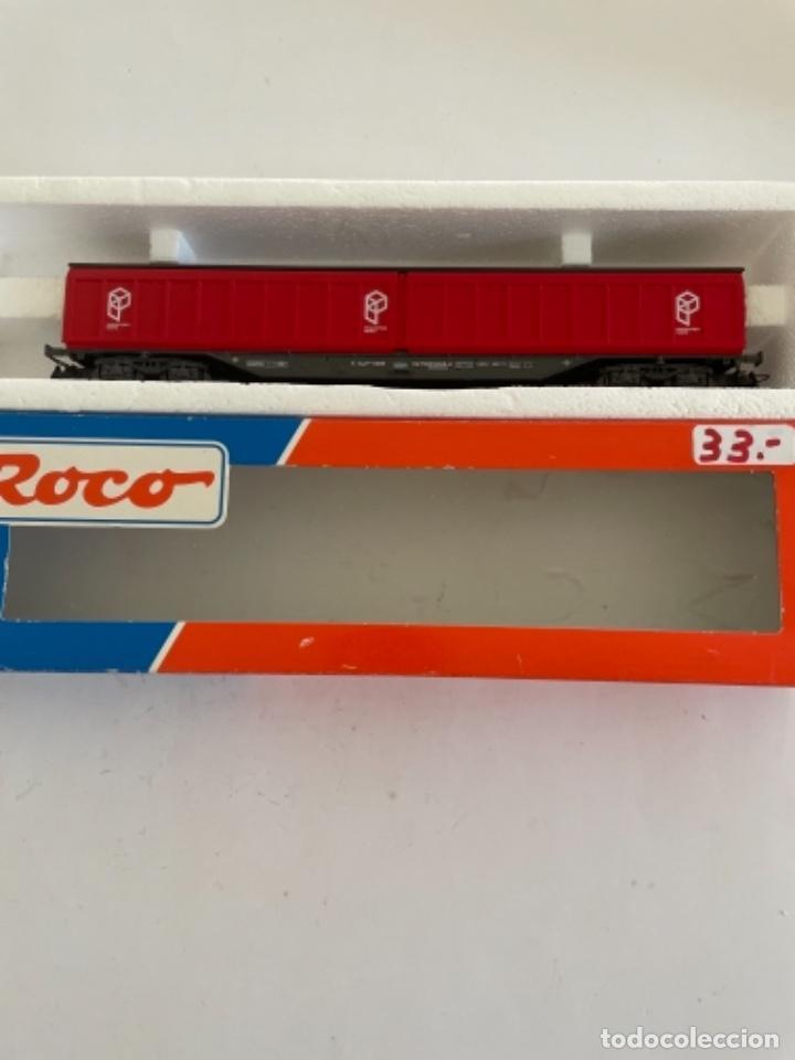 Trenes Escala: ROCO. HO. REF 46810 RENFE VAGON PAQUETE EXPRES PUERTAS CORREDERAS - Foto 2 - 268269709