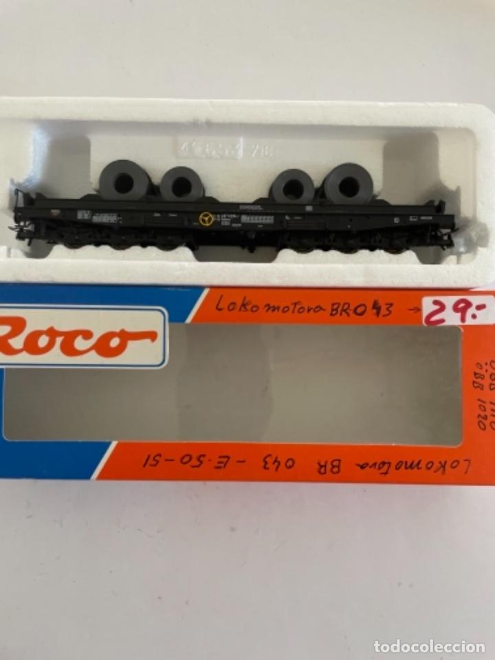 Trenes Escala: ROCO. HO. REF 46553 DB VAGON PORTABOBINAS - Foto 2 - 268270059
