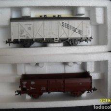 Trenes Escala: 2 VAGONES ROCO H0. Lote 271534293
