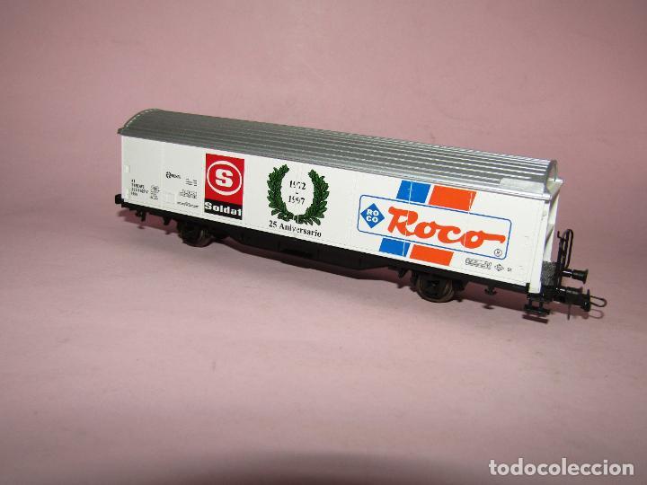 Trenes Escala: Vagón Cerrado de Mercancías 25 Aniversario SOLDAT 1972 - 1997 en Esc. *H0* de ROCO - Foto 2 - 271612478