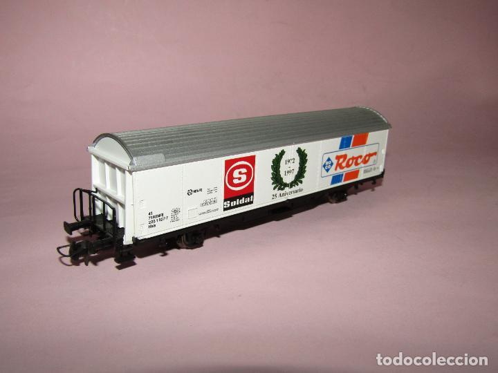 Trenes Escala: Vagón Cerrado de Mercancías 25 Aniversario SOLDAT 1972 - 1997 en Esc. *H0* de ROCO - Foto 4 - 271612478