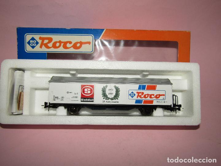 Trenes Escala: Vagón Cerrado de Mercancías 25 Aniversario SOLDAT 1972 - 1997 en Esc. *H0* de ROCO - Foto 5 - 271612478