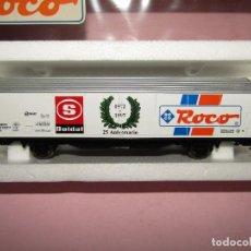 Trenes Escala: VAGÓN CERRADO DE MERCANCÍAS 25 ANIVERSARIO SOLDAT 1972 - 1997 EN ESC. *H0* DE ROCO. Lote 271612478