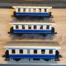Trenes Escala: ROCO H0 COMPOSICIÓN 3 COCHES DE VIAJEROS DE EJES, DE LA ÖBB, REFERENCIA 64009. Lote 271680318
