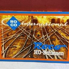 Trenes Escala: VÍAS ROCO. HO. SET AMPLIACION . NUEVOS EN SU CAJA ORIGINAL. Lote 275639918