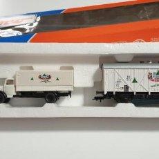 Trenes Escala: SET DE VAGÓN CERVECERO Y CAMIÓN ROCO H0 DE LA DB. NUEVO A ESTRENAR. REF.44102. CON SU CAJA. Lote 278615828