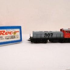 Trenes Escala: ROCO H0 43469 LOCOMOTORA DIÉSEL 307 008-3 RENFE DIGITAL NUEVA OVP. Lote 284422983
