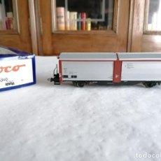 Trenes Escala: ROCO H0 66340 VAGÓN PARED DESLIZANTE SBB CFF SUIZO NUEVO OVP. Lote 284461183