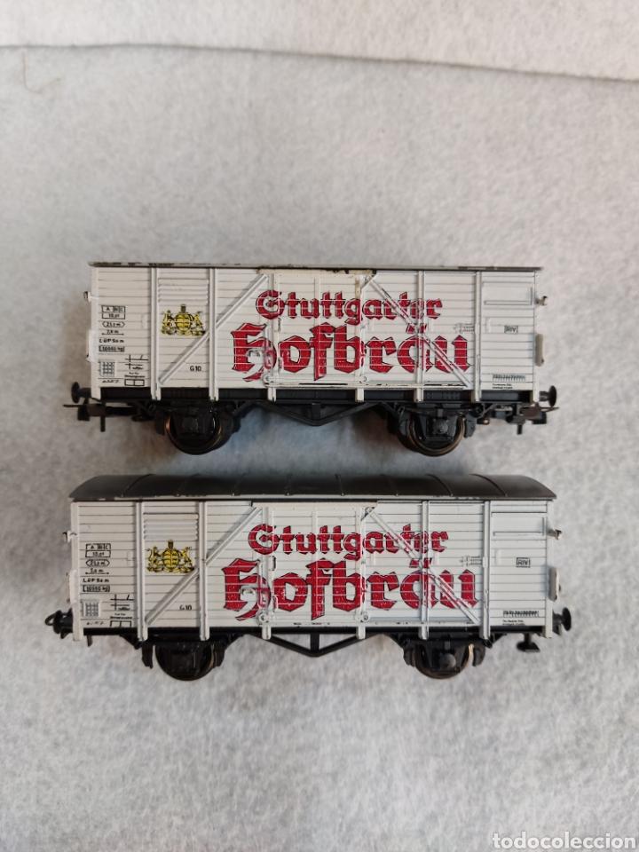 Trenes Escala: Lote 2 vagones Roco, cerveza Hofbrau - Foto 2 - 288009588