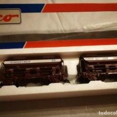 Trenes Escala: ESTUCHE 2 VAGONES ROCO 44078. Lote 288163593