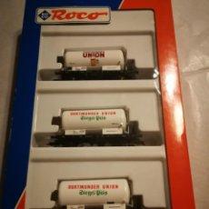 Trenes Escala: ESTUCHE 3 VAGONES ROCO 44049. Lote 288163928