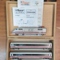 Trenes Escala: ROCO H0 SET TREN ICE 2, DE LA DB, REFERENCIA 69071 (45008-45009) DC ANALÓGICO.. Lote 288203183