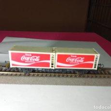 Trenes Escala: VAGÓN PORTACONTENEDOR ESCALA HO DE ROCO. Lote 290339208