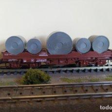 Trenes Escala: ROCO H0 VAGÓN PORTABOBINAS DE BOGÍES TIPO SHIS, DE LA SNCB, REFERENCIA 46304.. Lote 296015518
