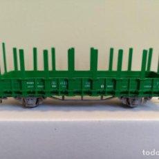 Trenes Escala: ROCO H0 VAGÓN PLATAFORMA DE 2 EJES CON TELEROS, RENFE, REFERENCIA 56022.. Lote 296052218