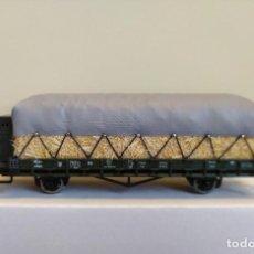 Trenes Escala: ROCO H0 VAGÓN PLATAFORMA CON GARITA Y 2 EJES, DE LA K.BAY.STS.B., REFERENCIA 66345.. Lote 296056058