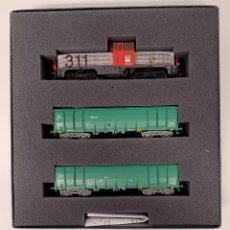 Trenes Escala: ELECTROTREN- LOCOMOTORA TREN 311 CARGAS RENFE CON LA REFERENCIA 6502 ALTERNA,H0. NUEVO. Lote 296686283
