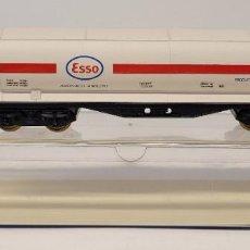 Trenes Escala: ELECTROTREN- VAGÓN DE MERCANCÍAS CISTERNA ESSO TRANSPORTE AMONIACO CON LA REFERENCIA 5300,H0. NUEVO. Lote 296722388