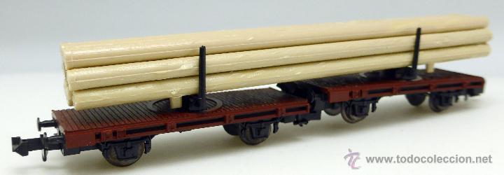 Trenes Escala: Vagón mercancías Roco N transporte tubos Ref 2312 con caja - Foto 2 - 47484703
