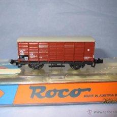 Trenes Escala: VAGÓN CERRADO EN ESCALA *N* REF. 25052 DE ROCO CON CAJA ORIGINAL. Lote 48777991