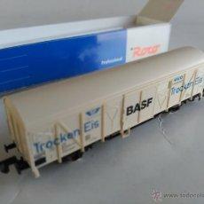 Trenes Escala: ROCO N VAGON CARGA CERRADO BASF, COMPATIBLE IBERTREN. Lote 53490444
