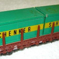 Trenes Escala: VAGON CARGA CONTENEDORES SCHENKER ROCO ESCALA N. Lote 67046158