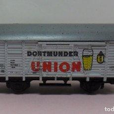 Trenes Escala: ROCO N - VAGÓN DE TRANSPORTE DE CERVEZA DORTMUNDER UNION. Lote 70041373