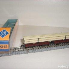 Trenes Escala: ROCO N DOBLE PLATAFORMA CON POSTES REF 2312 (CON COMPRA DE 5 LOTES O MAS ENVÍO GRATIS). Lote 95554227