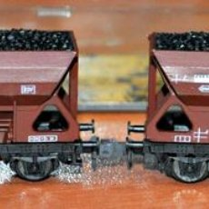 Trenes Escala: 2 TOLVAS CON CARBÓN DE LA DB DE ROCO. ESCALA N. Lote 108923111