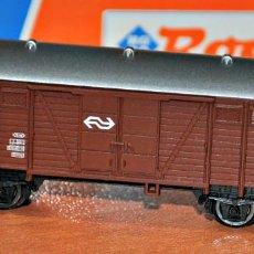 Trenes Escala: VAGÓN CERRADO MARRÓN 2 EJES DE LA NS DE ROCO, REF. 25437. ESCALA N. Lote 109454659
