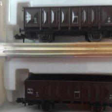 Trenes Escala: LOTE 2 VAGONES ABIERTOS ROCO N 25550. Lote 114445612