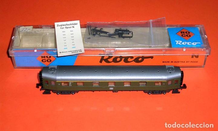 Trenes Escala: Coche pasajeros 1ª clase DB ref. 24214, Roco esc. N, original años 80. Con caja. - Foto 3 - 122288735