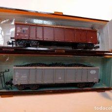 Trenes Escala: ROCO 2368A Y 2368E GÓNDOLAS, VAGONES DE MERCANCÍAS ESCALA N. Lote 123156327