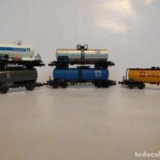 Trenes Escala: ROCO ARNOLD MINITRIX CONJUNTO DE VAGONES CISTERNA DE LA ESCALA N. Lote 123205419