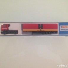 Trenes Escala: TREN, CAMION, TRAILER MERCEDES PASTAS GALLO, ROCO 2681, NUEVO A ESTRENAR. Lote 131339470