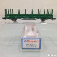 Trenes Escala: TREN, ROCO 25283, VAGON PLATAFORMA 2 EJES, RENFE 2 2713301023-0 RIV RENFE X1. Lote 143388622