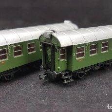 Trenes Escala: ROCO 24017 N JUEGO DE 2 DB SET DE CONVERSIÓN DE VAGONES, 3 EJES. Lote 151355194