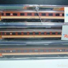 Trenes Escala: PACK TRES COCHES 10000 ESTRELLA RENFE ROCO. Lote 154474554