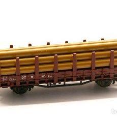 Trenes Escala: ROCO N REF. 25025- VAGÓN TELERO CON CARGA DE TRONCOS.. Lote 155176758