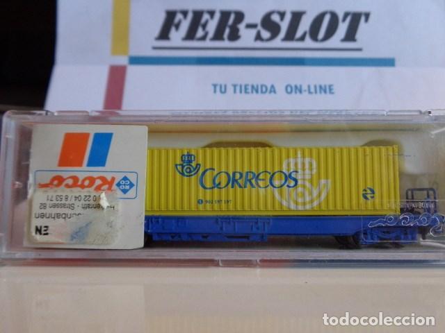 VAGON DE TREN DE CORREOS ESPAÑA MARCA ROCO (Juguetes - Trenes a Escala N - Roco N)