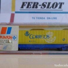 Trenes Escala: VAGON DE TREN DE CORREOS ESPAÑA MARCA ROCO. Lote 158603202