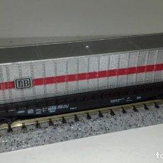 Trenes Escala: ROCO N PLATAFORMA 4 EJES CON CANTAINER (CON COMPRA DE 5 LOTES O MAS ENVÍO GRATIS). Lote 161264326
