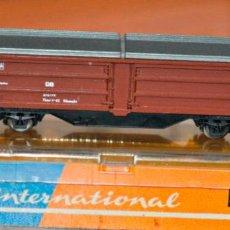 Trenes Escala: VAGÓN CERRADO TECHO TELESCÓPICO DE LA DB DE ROCO, REF. 2304. ESCALA N, COMPATIBLE CON IBERTREN. Lote 170942570